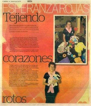"""Tejiendoperu en el diario """"El Trome""""  Lima, Perú, 3 de abril, 2012"""