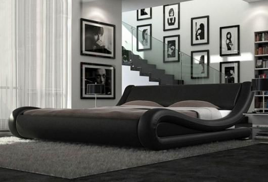 Palermo Italian 5ft King Faux Leather Bed