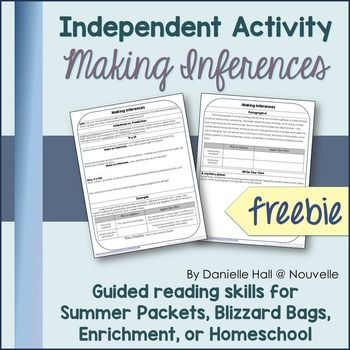 Do you need an independent reading activity for substitute plans, summer packets, blizzard bags, or enrichment?This is part of an independent reading activity appropriate for upper elementary and middle schoolers, in and out of a traditional classroom setting.