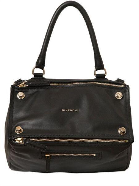 Givenchy Black Medium Pandora Leather Studded Bag