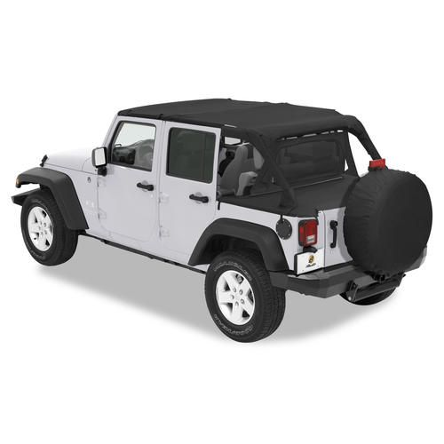 Bestop Safari Bikini, Duster & Windjammer Summer Combo for 07-09 Jeep® Wrangler Unlimited JK 4 Door with Factory Soft Top