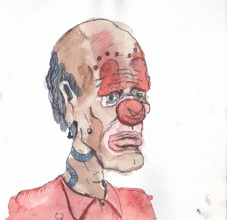 #Clown #YNNP #watercolor