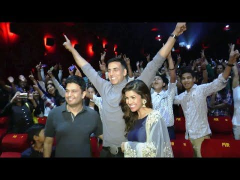 Akshay Kumar and Nimrat Kaur visit PVR Cinema to meet FANS for AIRLIFT.