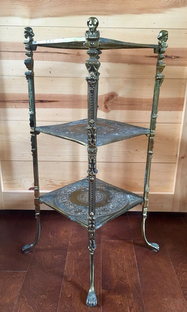 Pin By Heather Scott On Antique Vintage Home Decor Brass Side Table Side Table Vintage House