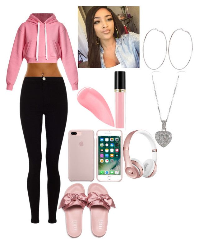 """Pink all day everyday"" by nykirafisher646 ❤ liked on Polyvore featuring Puma, Natasha Zinko, Lipsy, Revlon, Kevyn Aucoin, Beats by Dr. Dre, River Island and Cartier"