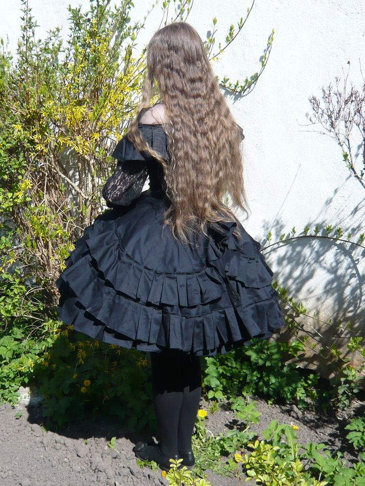 Black Period Lolita dress