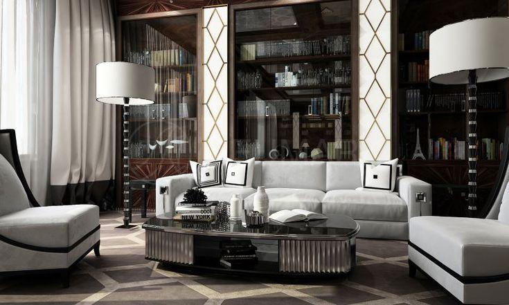 Дизайн интерьера в стиле ар-деко/арт-деко. #дизайн #интерьер #стиль #ардеко #артдеко #дизайнер #гостинная