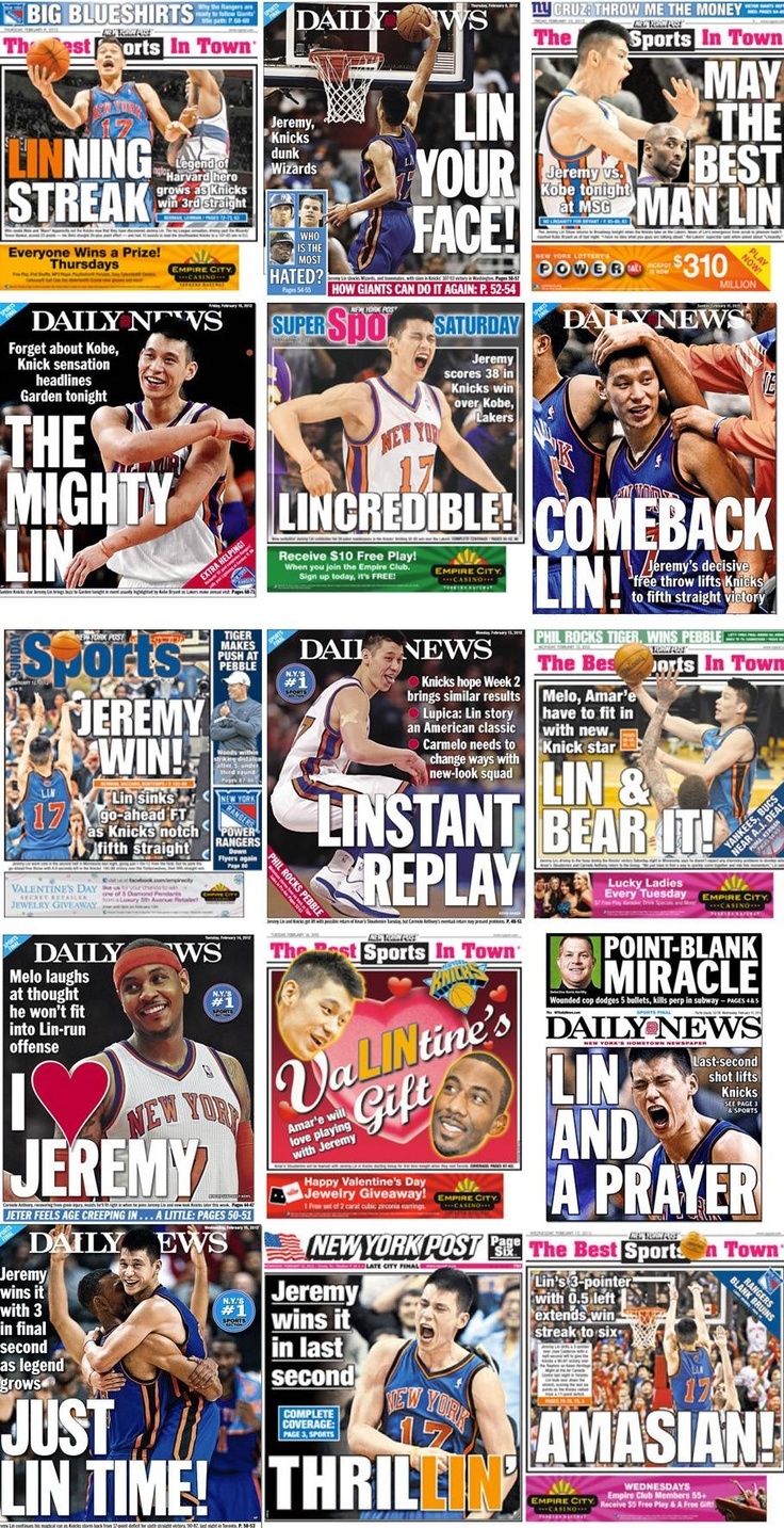 Thanks Jeremy Lin for making NY love the Knicks again!