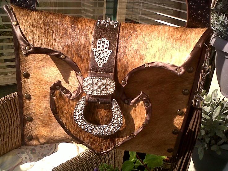 Handbag made from an old carpet and a belt...
