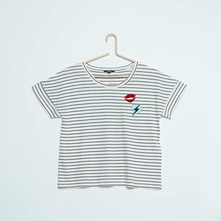 Tee-shirt fluide à rayures Fille adolescente - Kiabi - 6,00€