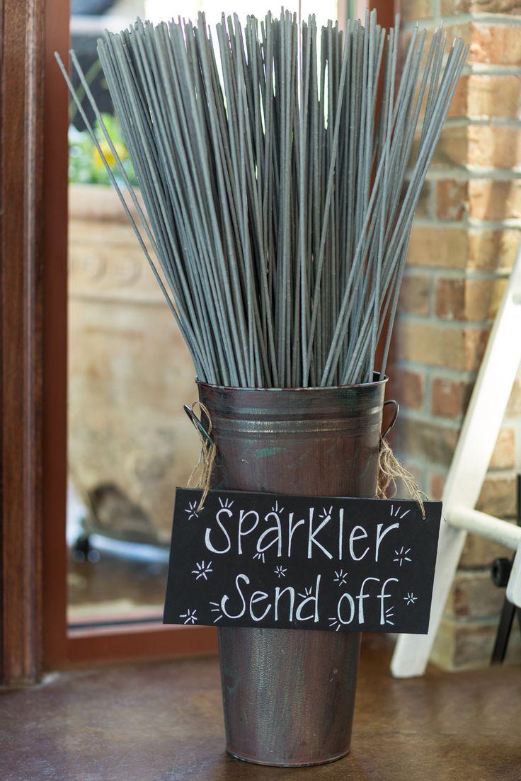 Sparkler send off with long burning sparklers Knoxville