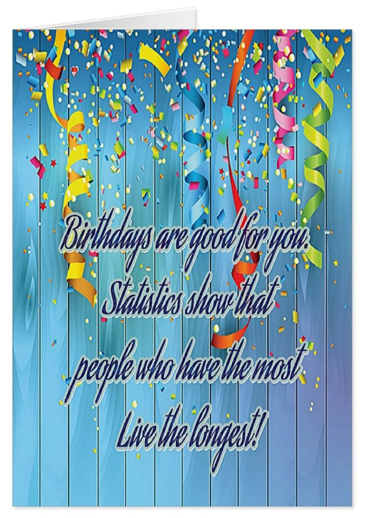 Well it's true isn't it, have more birthdays and you'll live longer, it's statistical! This is a fun card.  Lots of colour and celebration streamers.