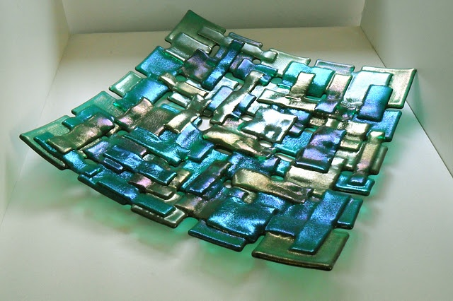 Beautiful fused glass dish by Dawn Turner.