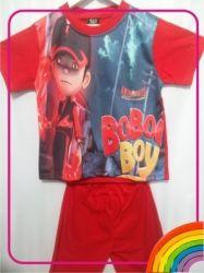 CS02   Setelan Boboiboy Halilintar Merah  large