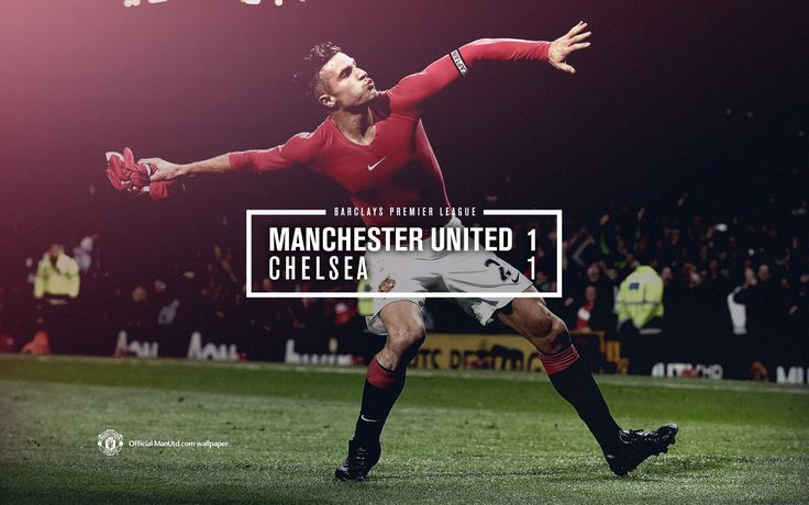 Match poster: Manchester United 1 - 1 Chelsea, 26 October 2014. Designed by @Manchester United.