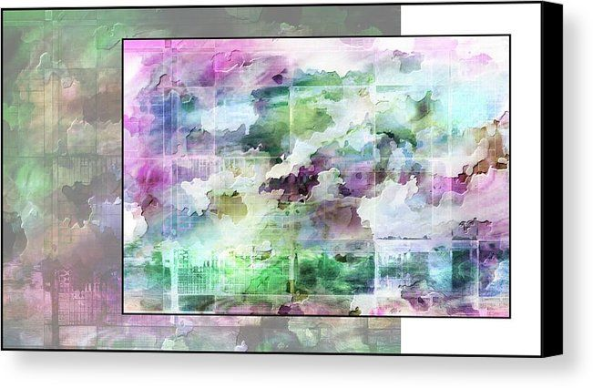 Yoga Canvas Print featuring Cloud Yoga by Dorothy Berry-Lound #cloudyoga #yoga  #colourharmony #healingart #printforsale #spiritual #interiordecor