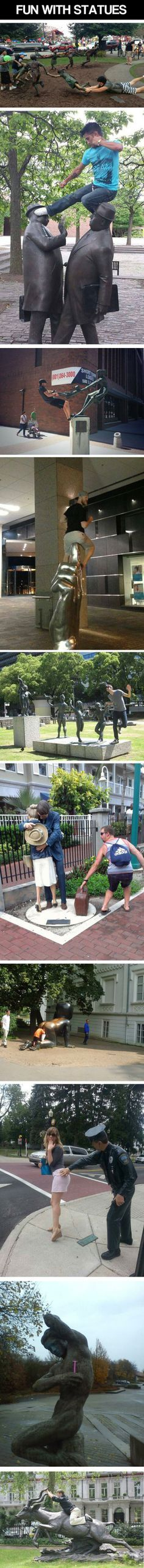 What's The Point Of Statues If You Can't Have Fun With Them? – 10 Pics | best stuff