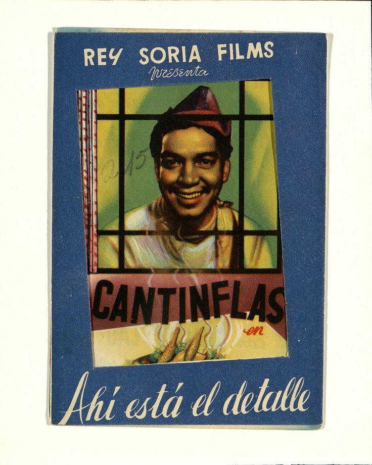 6. Cantinflas en «Ahí está el detalle». Dirigida por Juan Bustillo Oro. Valencia: Gráficas Valencia, 1945 .#ProgramasdeMano #BbtkULL #Troquelados #DiadelLibro2014