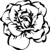 Clipart - zwart wit, schets, van, roos k7395673 - Zoek Clip Art, Illustratie fresno's, Tekeningen en Vector EPS Grafische Beelden - k7395673.eps