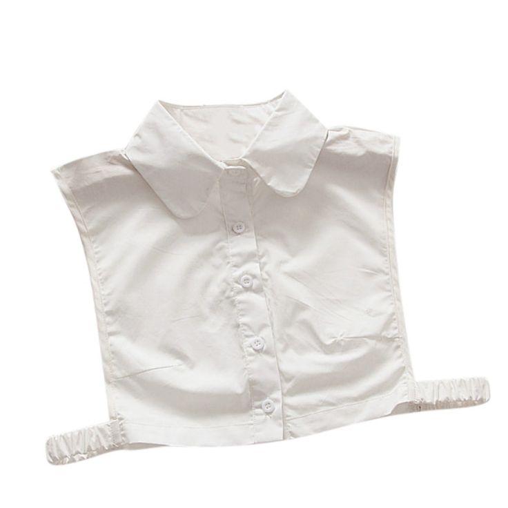 Women Shirts Fake Collar Lapel Detachable Blouse Sweater Tops Decor Lapel #Affiliate