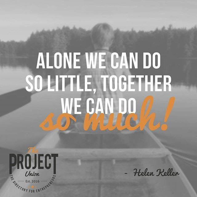 Achieve even more when you collaborate with an expert in their field. #theprojectunion