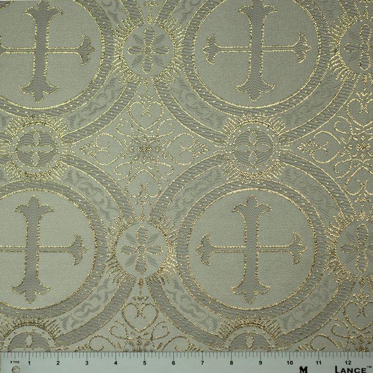 Polyester church brocade fabric designer fabric by the for Designer fabric by the yard