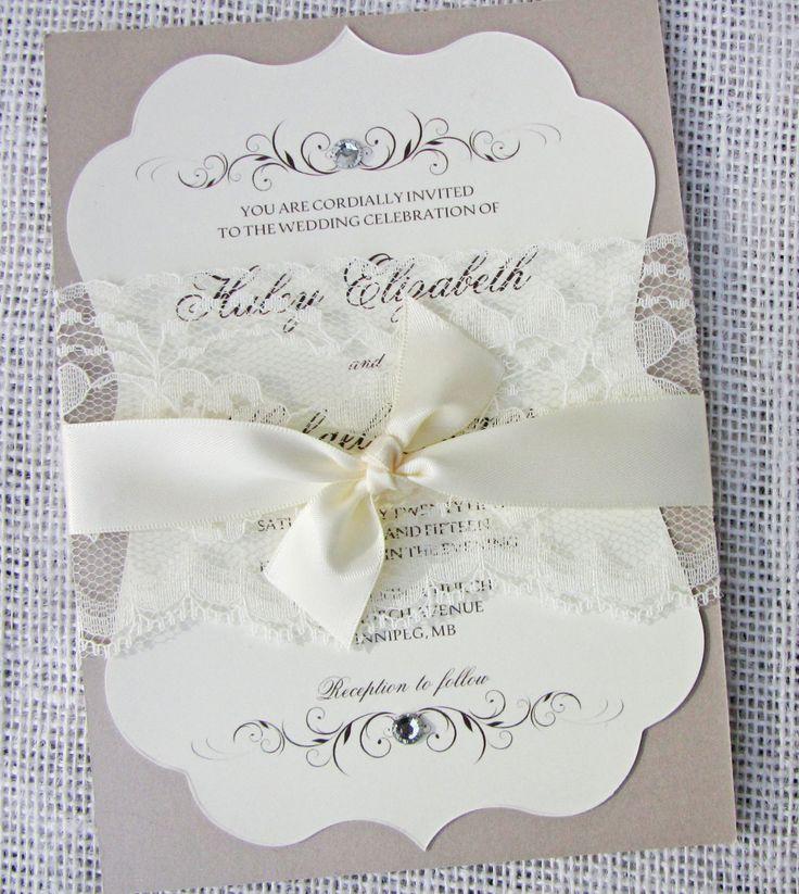 The Perfect Elegant Romantic Elegance, These Handmade Invitations Are A  Beautiful Way To Invite Your. Diy Wedding Invitation KitsHandmade ...
