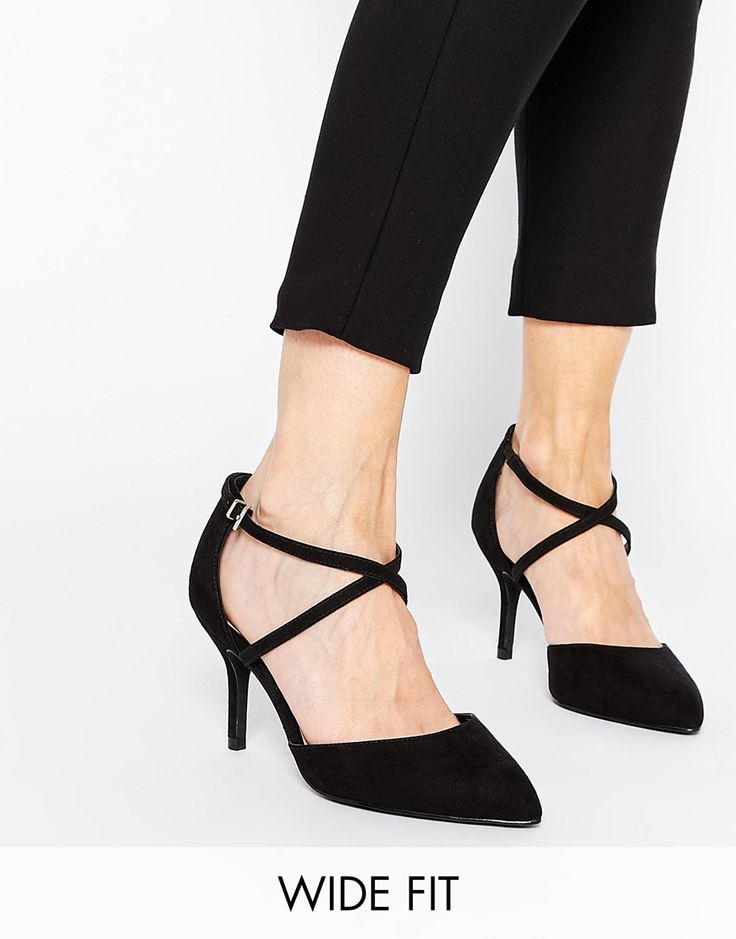 Heels by ASOS Collection Faux suede upper Barely-there design Pin buckle  ankle strap Heel panel Closed point toe High stiletto heel Wipe with a soft  cloth ...