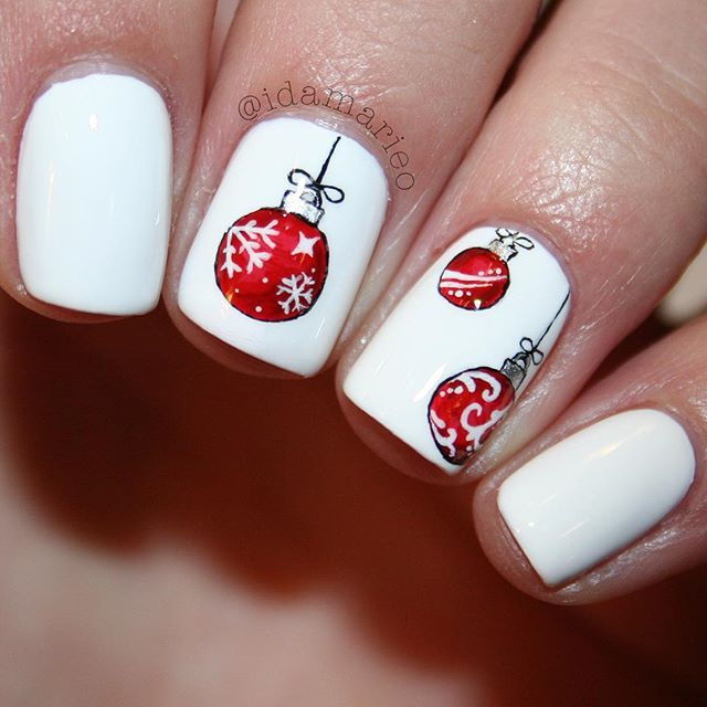 christmas ornament nail art - photo #43
