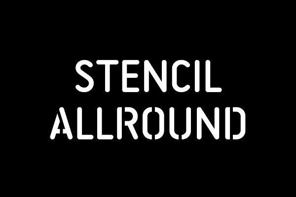 Stencil Allround Typeface Lettering Fonts Stencil Font Typeface