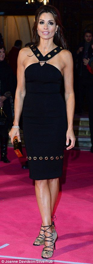Melanie Sykes also dazzled on the pink carpet...
