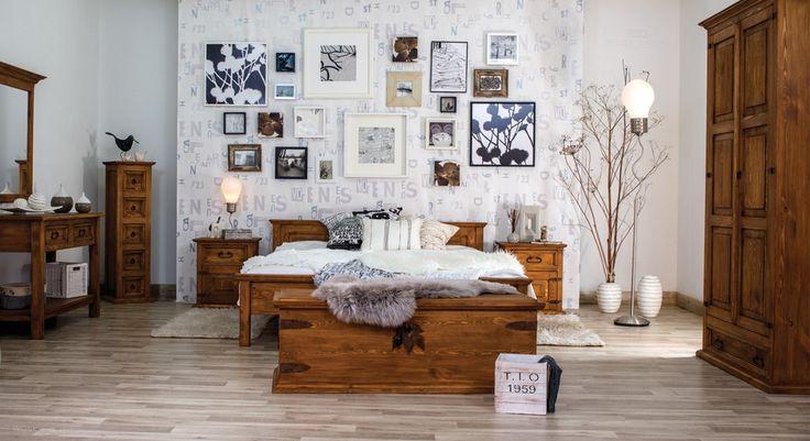 Rustykalna, idealnie wyposażona sypialnia.