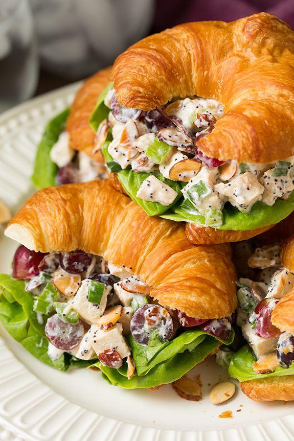 Almond Poppy Seed Chicken Salad Sandwiches   Cooking Classy   Bloglovin'