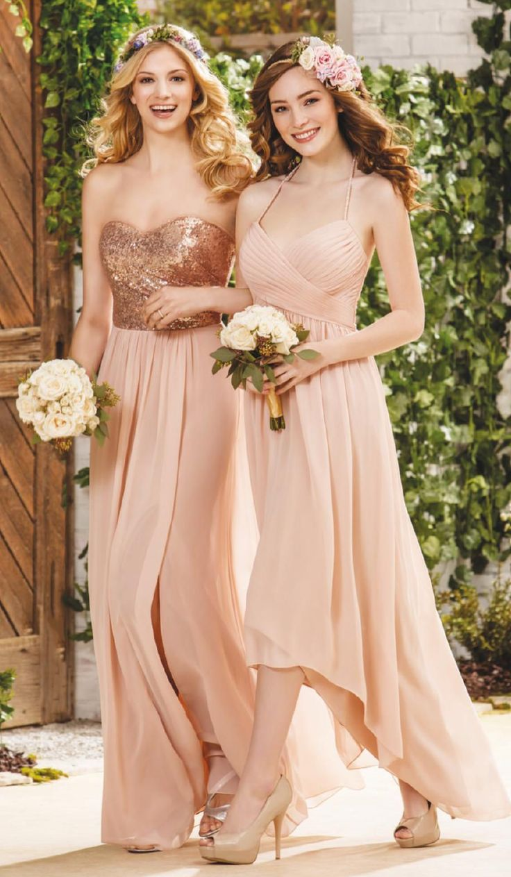 29 best mix match bridesmaids images on pinterest jasmine beautiful pink short sleeved long pink chiffon bridesmaid dress ombrellifo Images