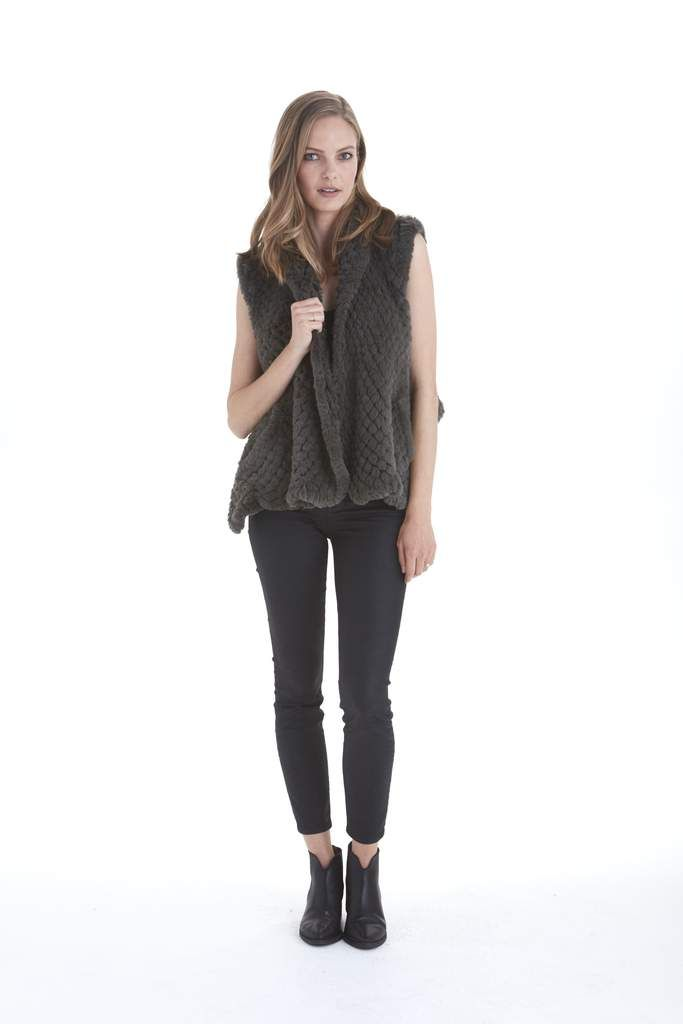 Ali Faux Fur Vest | Love Token US