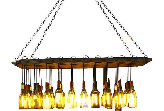 Wine Bottle Chandelier on OneKingsLane.com