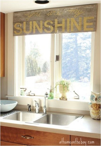 Centsational Girl » Blog Archive » 6 Ways to Dress a Kitchen Window. Want this in my dining room!