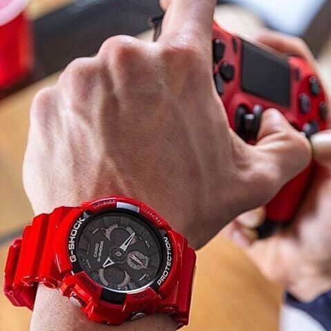 G-Shock Solid Red Series | Model No. GA-201RD-4A | #Gshock #watches