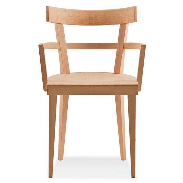 Sill n cafe de madera para cafeter a y bar de moda for Sillas madera cafeteria