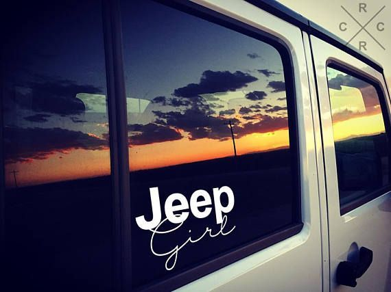 Jeep Girl Vinyl Decals, Jeep Stickers, Car Decals for women, Yeti Decals, Truck Decals, Window Decals, jeep accessories, jeep wrangler #caraccessories