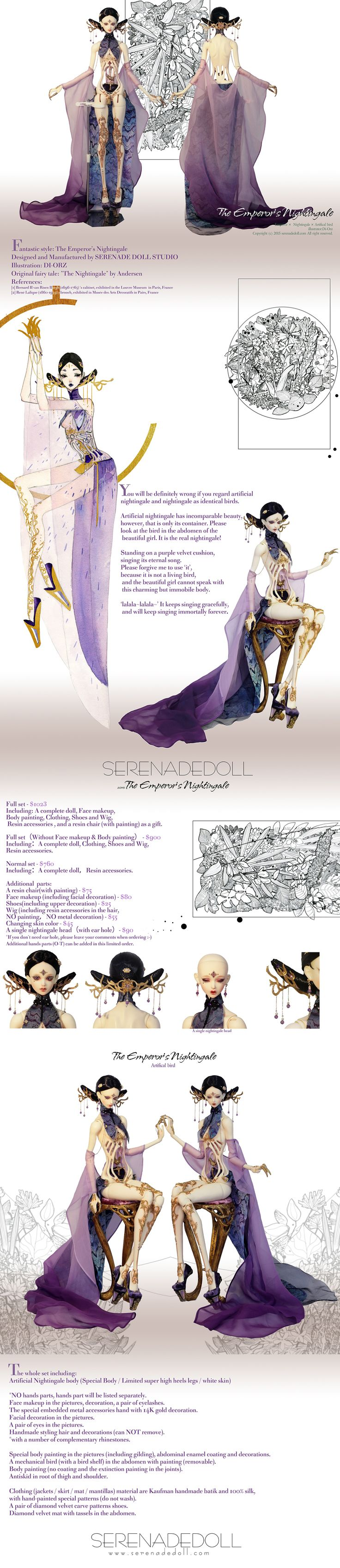 The Artificial Bird from The Emperor's Nightingale by SERENADE DOLL