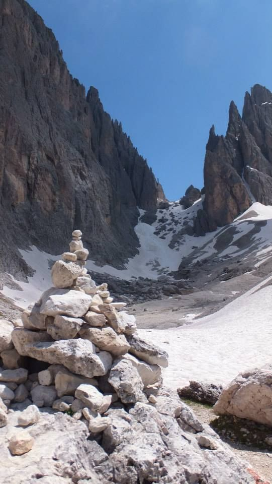 Forcella del Sassolungo, Val Gardena.Italy South Tyrol Trentino-Alto Adige