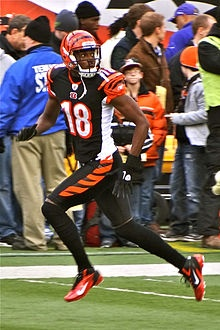 AJ Green of the Cincinnati Bengals