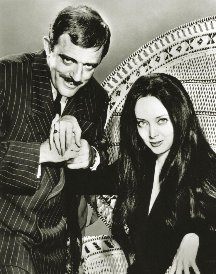Carolyn Jones  and John Astin - The Addams Family