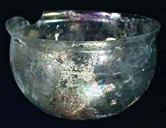 Extremely Rare Ancient Roman Iridescent Glass Bowl.  Exquisite.