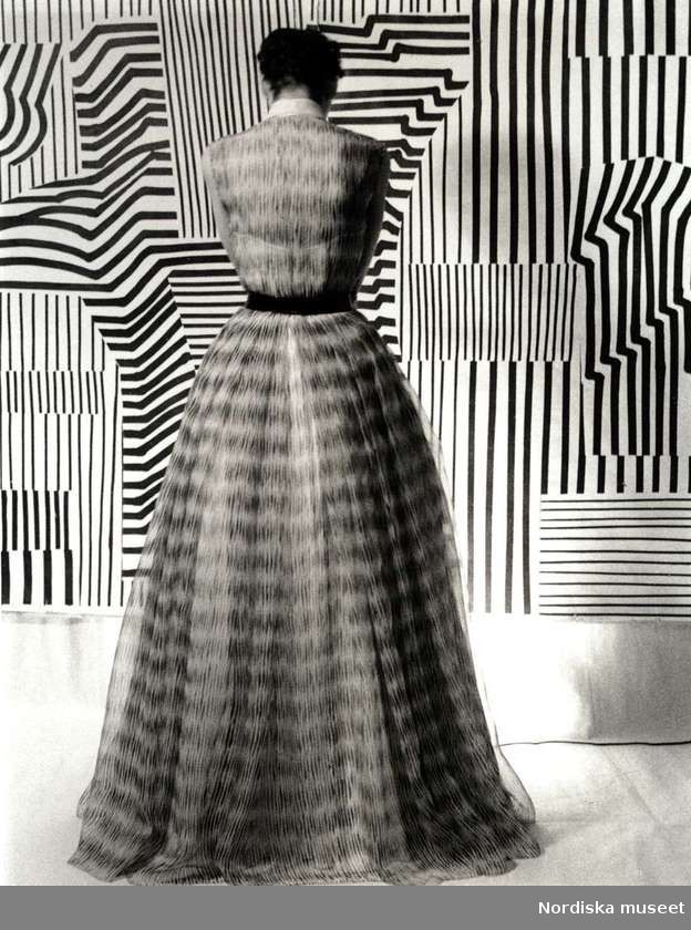 "Fashion editorial from magazine ""Idun""; 1952.   Photo: Kerstin Bernhard.  Collection Stiftelsen Nordiska museet. CC-BY.NC-ND"