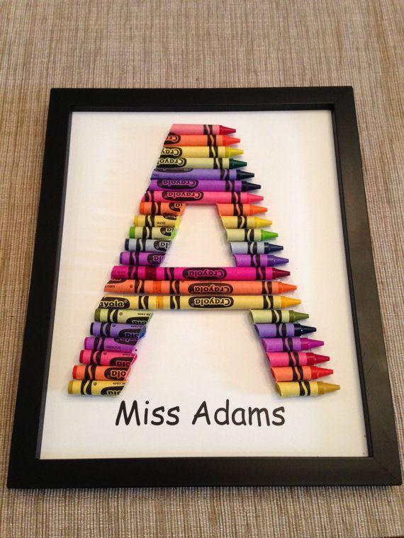 Crayon Monogram - great gift for teachers!