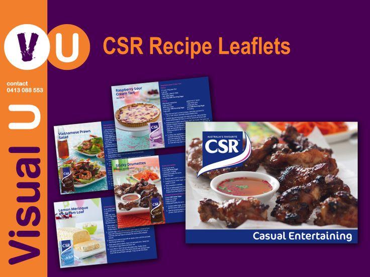 Visual U CSR Recipe Leaflets