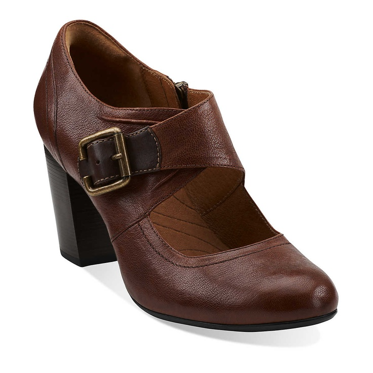 This looks like a perfect and versatile fall shoe.    Town Club in Cognac Leather - Womens Shoes from Clarks