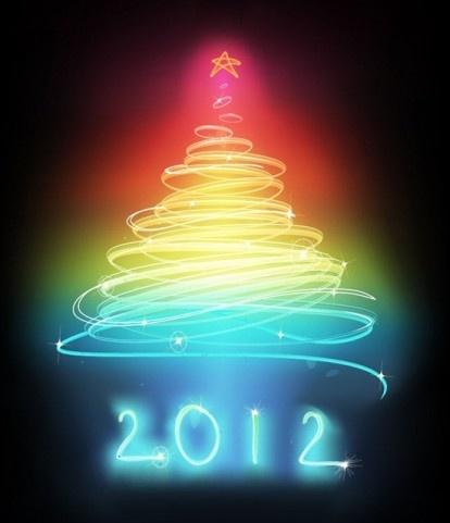 Photo Illustration Christmas tree shape Color Shines